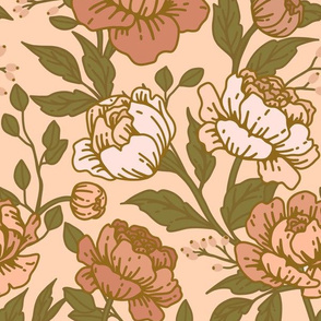 Chintz floral dusty rose