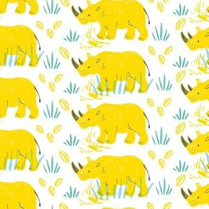 yellow rhinos