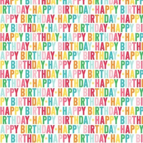 happy birthday XSM rainbow UPPERcase