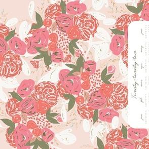 Blooming Bouquet Tea Towel 2020