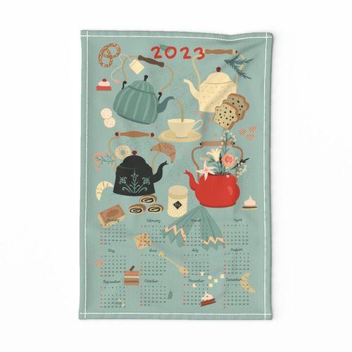 Tea Time - Tea Towel Calendar 2021 .