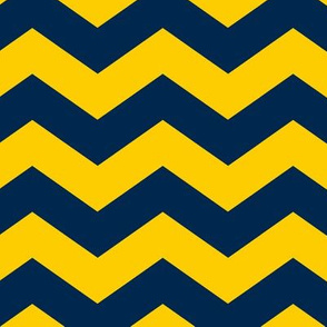 Blue and Yellow Zig Zag//Large Scale
