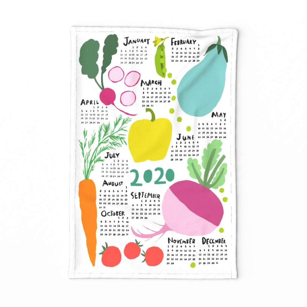 Special Edition Spoonflower Tea Towel featuring FOR THE LOVE OF VEGETABLES tea towel by nadinewestcott