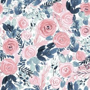 Floral Dreams - soft, loose, watercolour floral