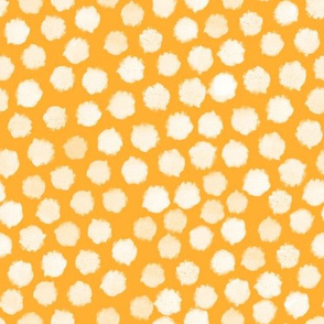 white dots yellow background