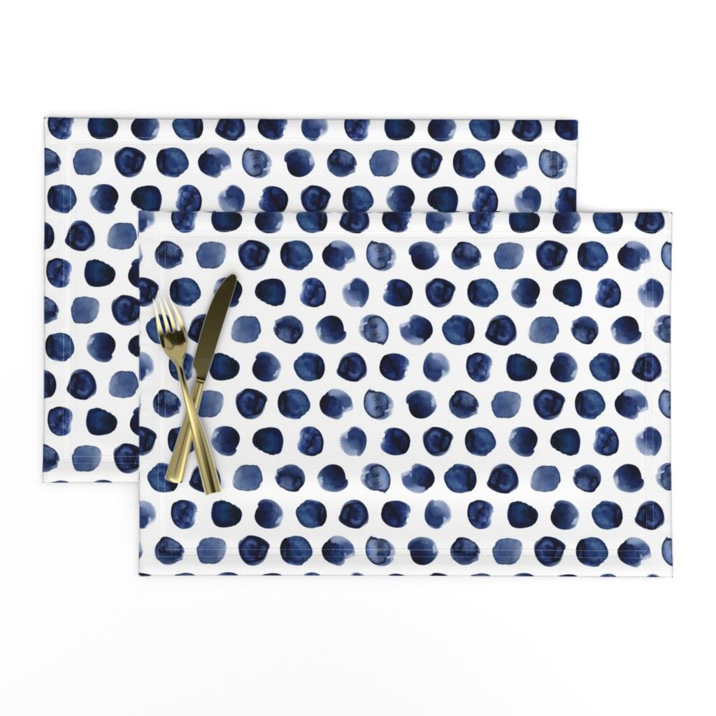 Lamona Cloth Placemats featuring Nahla Water Drops by mint_tulips