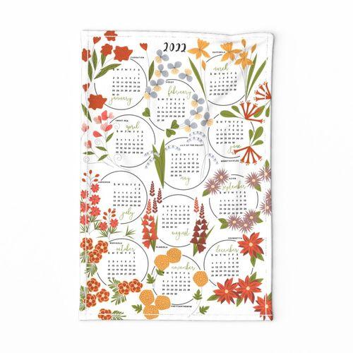 Floral Tea Towel 2022