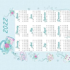 Tumbling Tea Time 2021 tea towel calendar