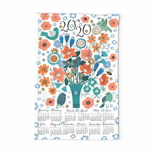 2020 Vintage Bouquet Calendar