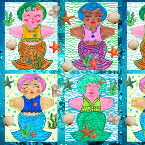 Mermaid Panels for Cloth Pads