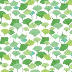 Ginkgo Leaf Allover_Green