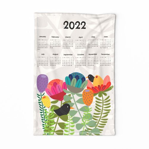 Protea tea towel calendar 2022