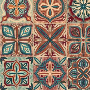 Rustic Spanish Tiles - Large