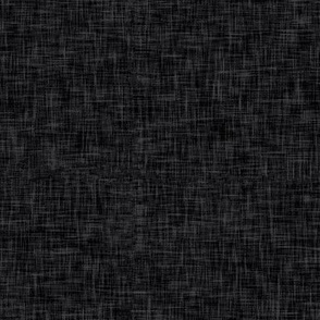 arcadia black - solid black linen texture - LAD19