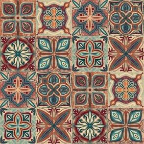 "Rustic Spanish tile - 2"" square tile"