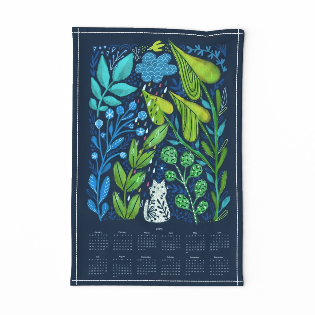 Special Edition Spoonflower Tea Towel featuring To plant a garden is to believe in tomorrow  by kostolom3000