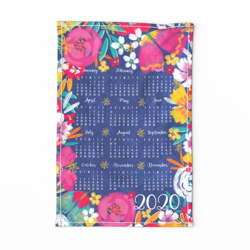 Harper Floral 2020 teatowel calendar