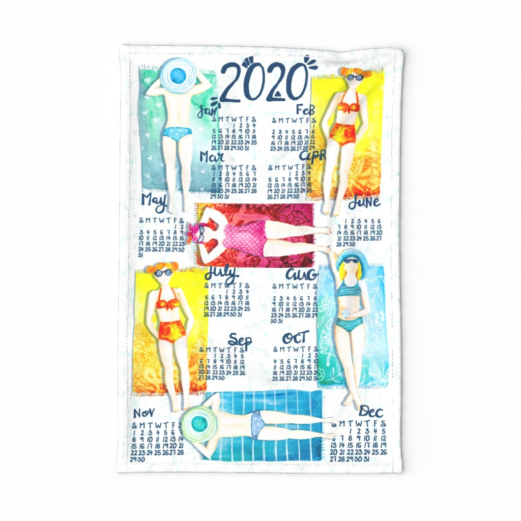Special Edition Spoonflower Tea Towel featuring Sunshiney 2020 by gingerlique
