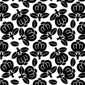 Japanese black flowers