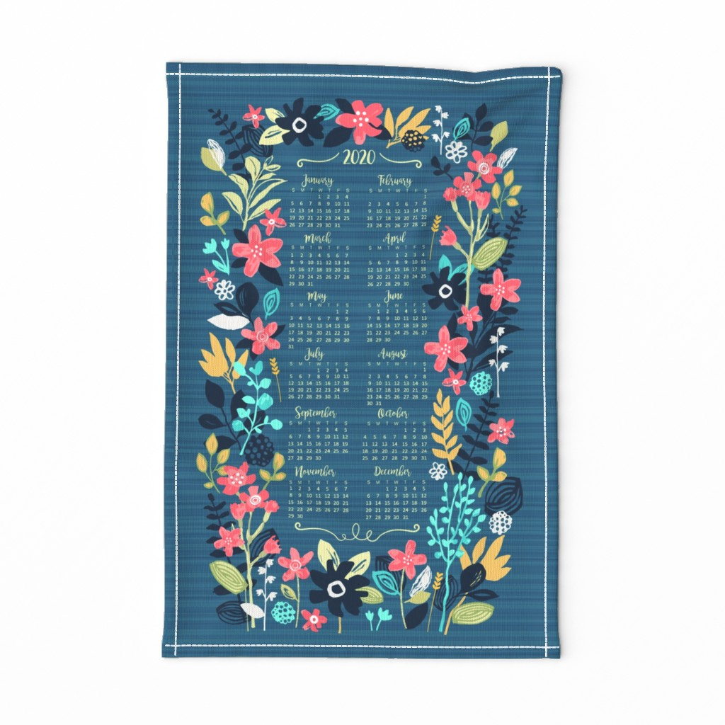 Special Edition Spoonflower Tea Towel featuring 2020 Tea Towel by sarah_treu