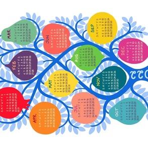 Tree of Life 2021 tea towel calendar by Pippa Shaw