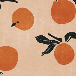 jumbo //mid-century  clementines on sandy beige