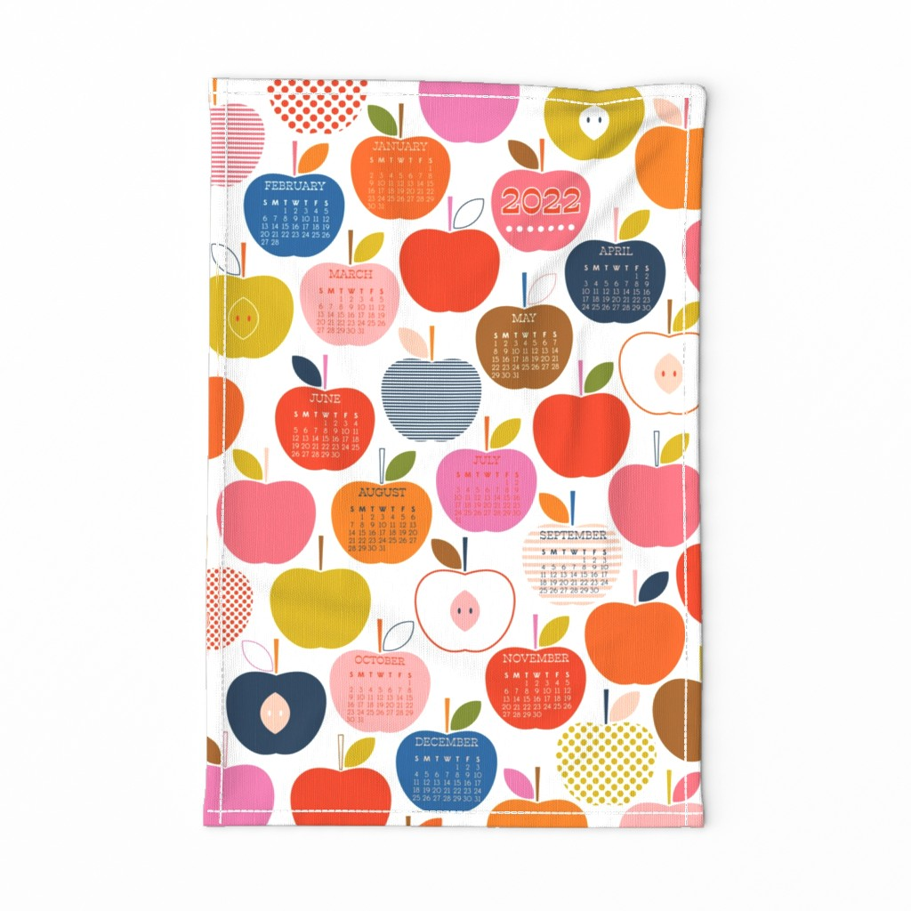 Special Edition Spoonflower Tea Towel featuring An Apple A Day 2020 by katerhees