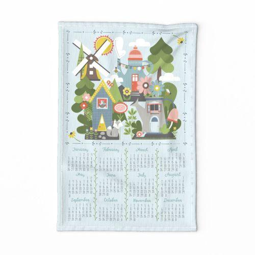 Woodland Homes Tea Towel