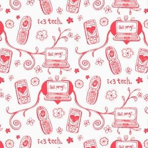 Techie Toile in Coral