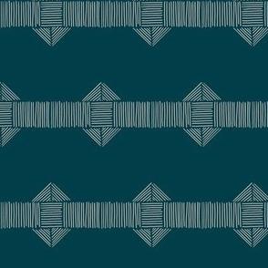 Blue Boho Stripe