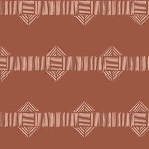Deep Mauve Boho Stripe
