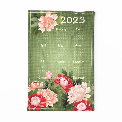 2021 Calendar Tea Towel