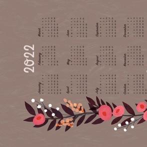 Yellow Rose Tea Towel Calendar 2021