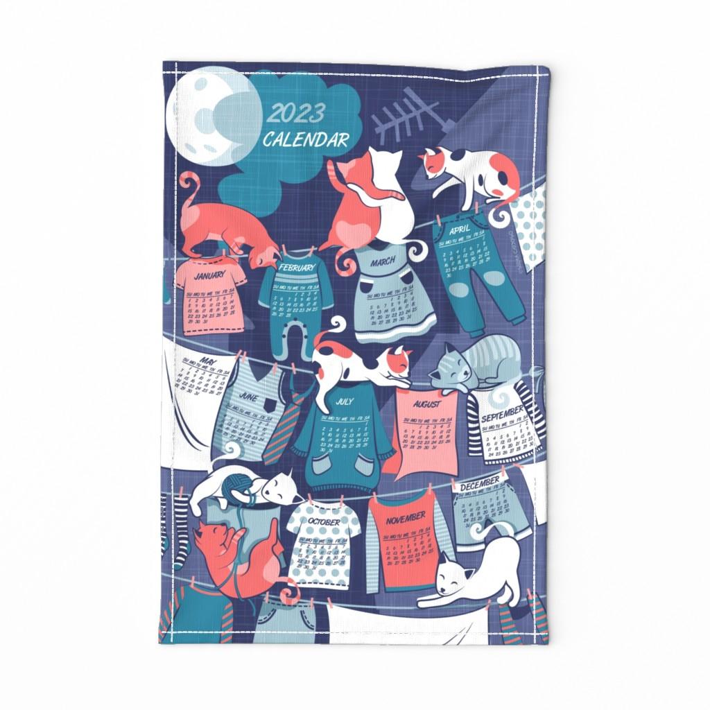 Special Edition Spoonflower Tea Towel featuring 2020 Calendar kitten clothesline Tea Towel by selmacardoso