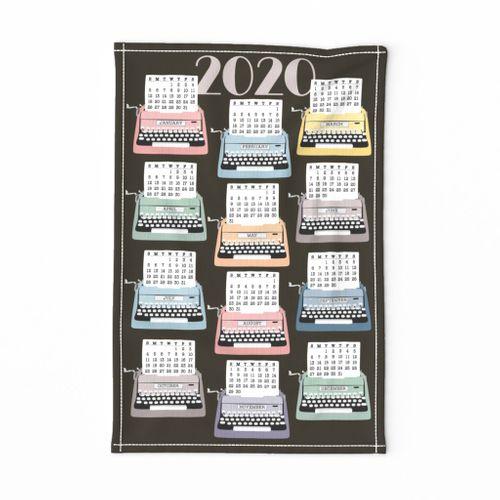2020 Tea Towel Typewriter Calendar