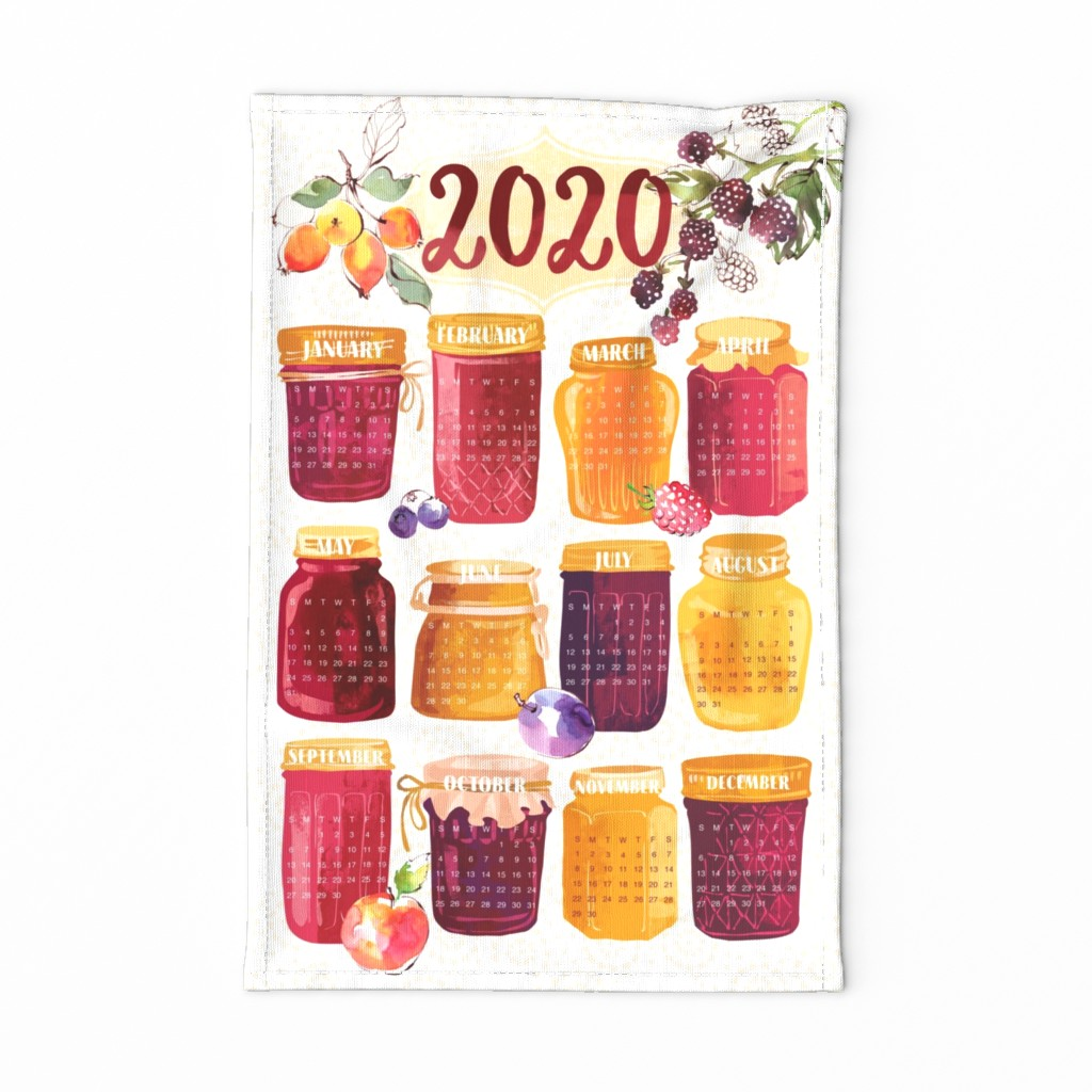 Special Edition Spoonflower Tea Towel featuring 2020 Fruit Jam Tea Towel by ohn_mar_win