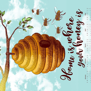 FS Honey Bee Tea Towel 2020 Calendar
