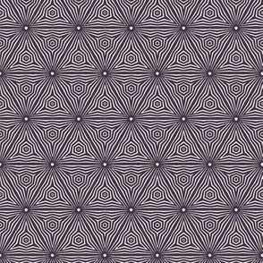 Seamless vector pattern. Striped gradient hexagon shape.
