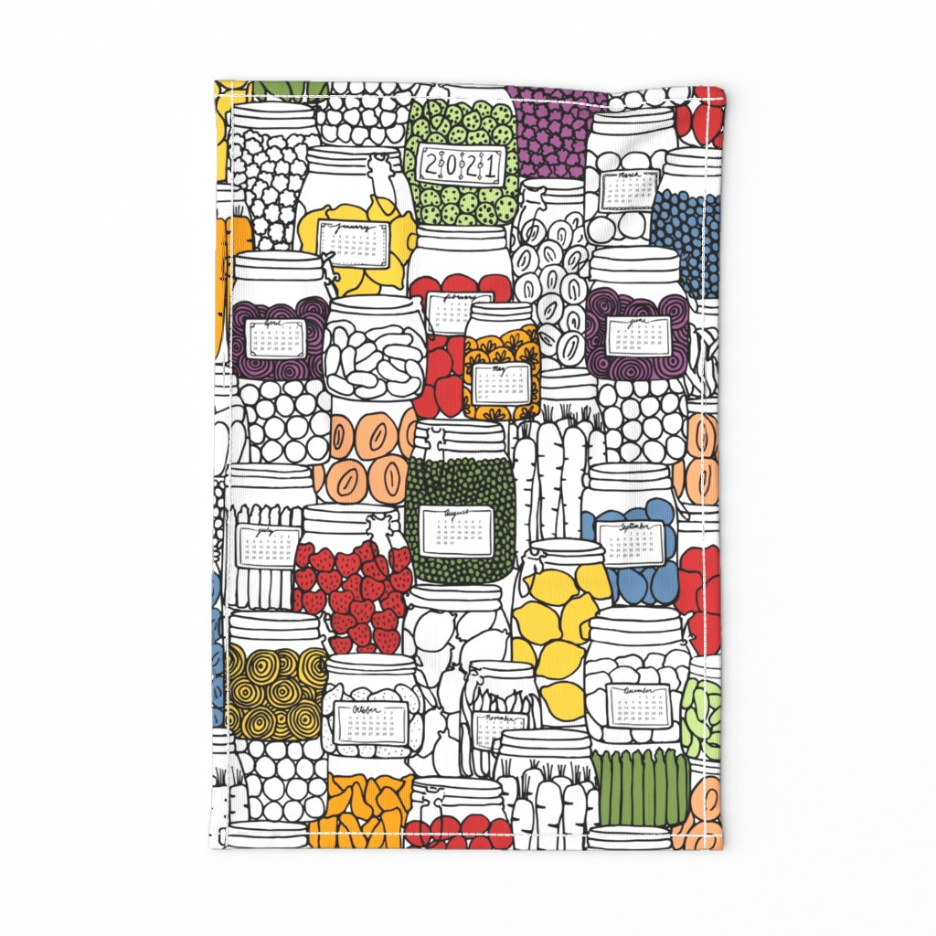 Special Edition Spoonflower Tea Towel featuring plentiful year by karinka