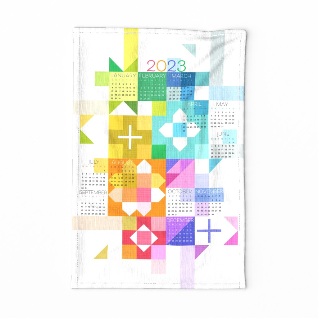 Special Edition Spoonflower Tea Towel featuring Sewing Up the Year_Tea Towel 2020 by robinpickens