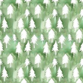 pine tree watercolor fill
