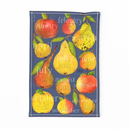 2020 Holiday Apple and Pear Calendar
