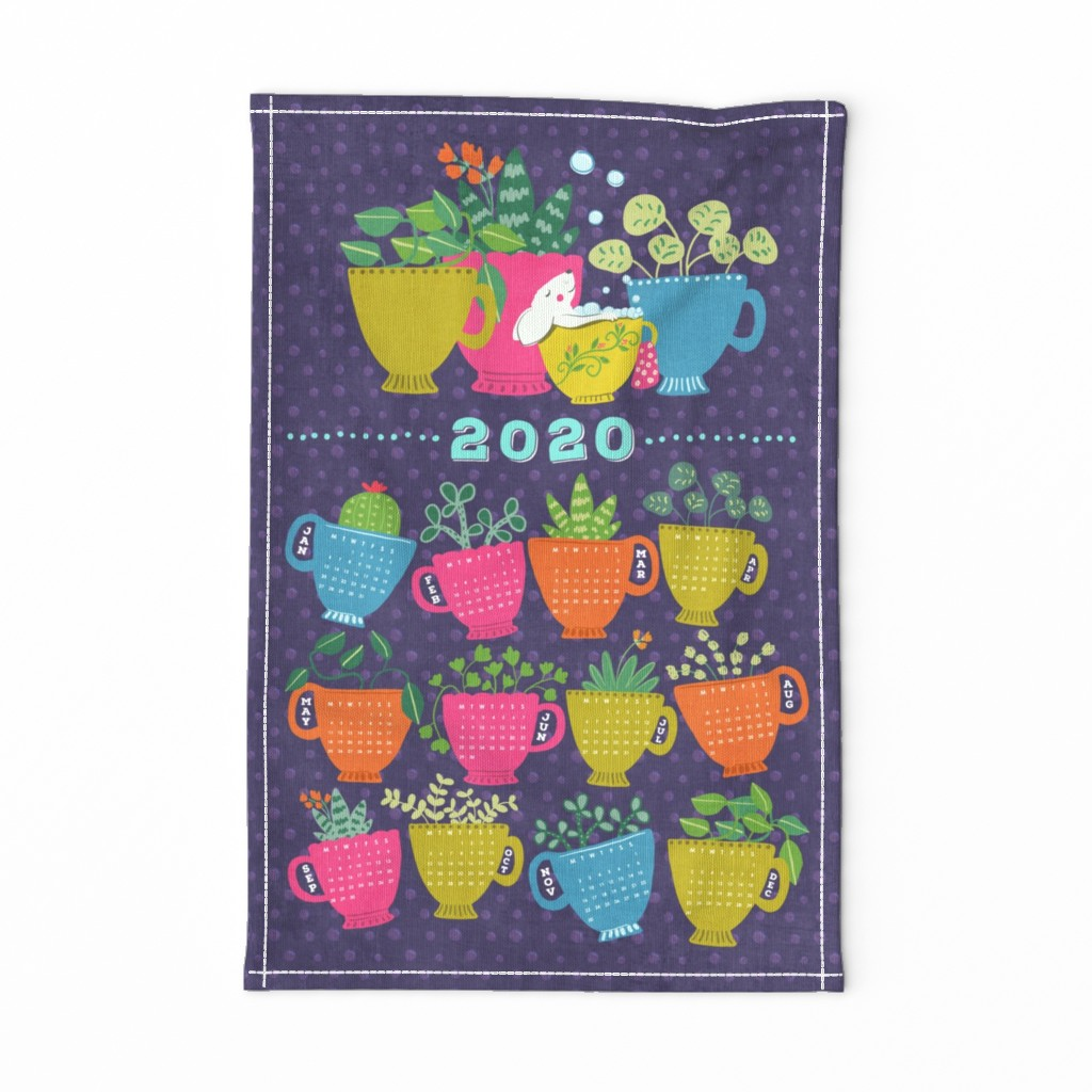 Special Edition Spoonflower Tea Towel featuring 2020 Bubble Tea Towel by jacquelinehurd