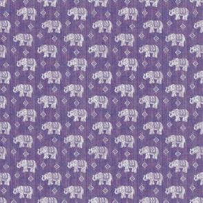 Sharavathi Elephants - Amethyst - Smaller Scale
