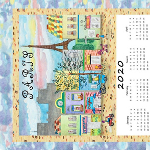 Paris Street Tea Towel Calendar