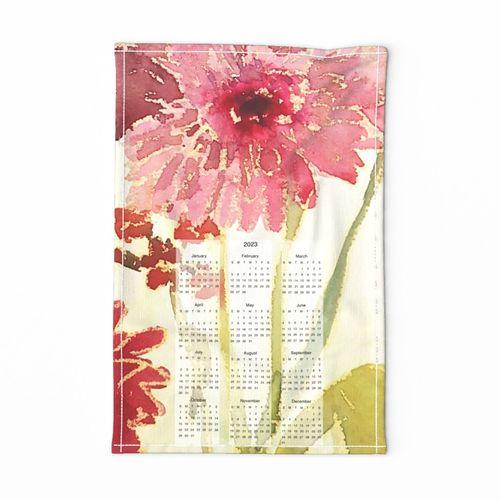 calendar tea towel 2021 by rysunki_malunki