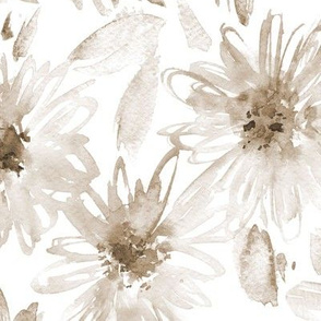 Boho bloom in paradise • watercolor earthy flowers