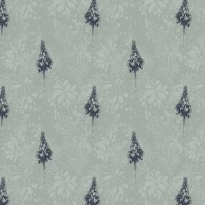 Petra Bonny lupines structuurprint met bloem