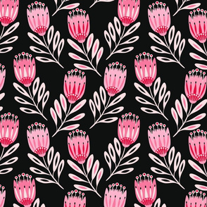 Folk Tulips Floral Medium 17360-280