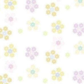 Rainbow Pastels - Swirl Flowers (Orange  S) -  © PinkSodaPop 4ComputerHeaven.com